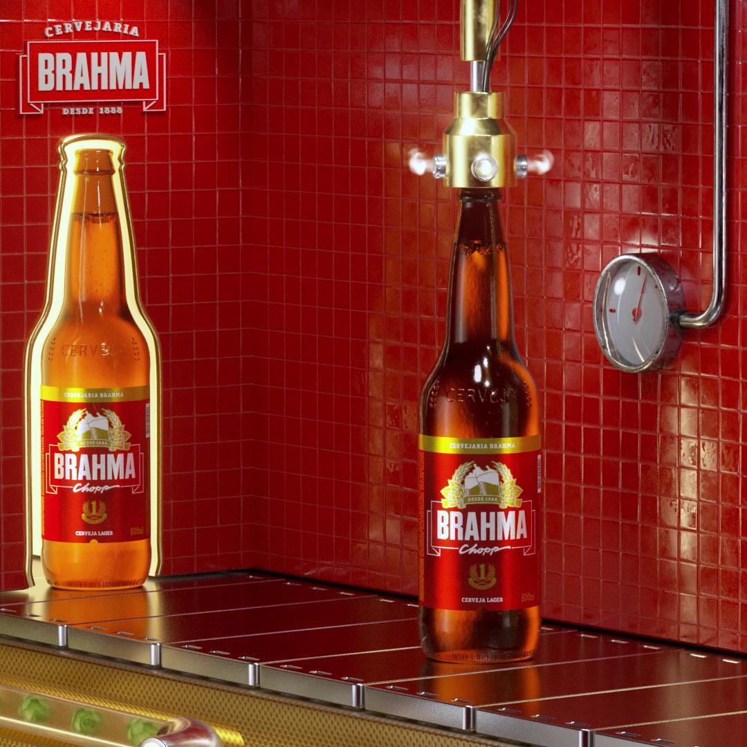 Tampando- Cervejaria Brahma